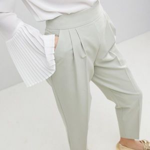 ASOS//high waist tapered pleated pants 8